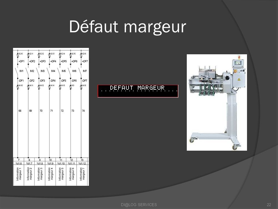 Défaut margeur DI@LOG SERVICES22