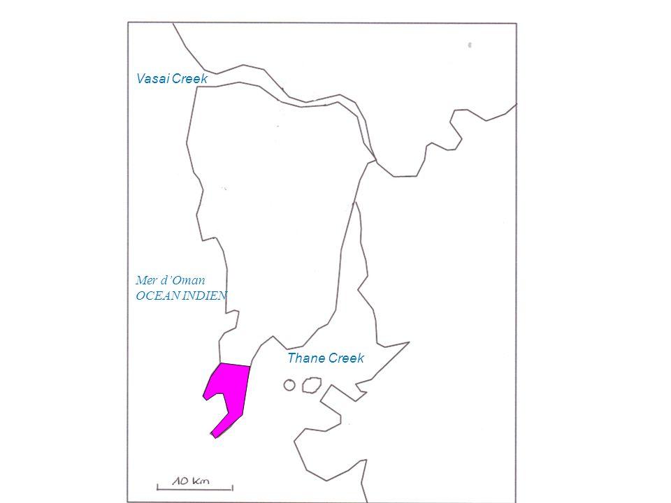Thane Creek Vasai Creek Mer dOman OCEAN INDIEN