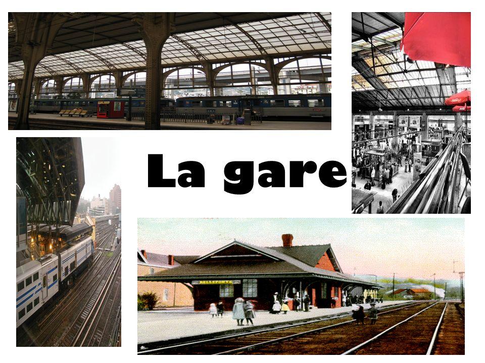 À la gare Le train