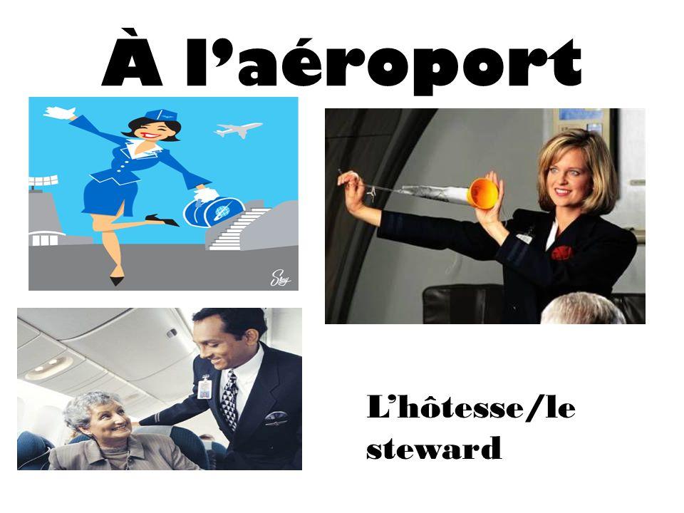 À laéroport Lhôtesse/le steward