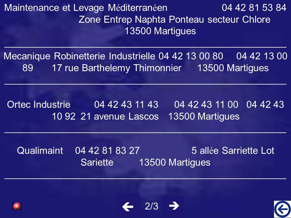 Aeroservice International (SARL) 04 42 80 35 52251 route Port de Bouc13500 Martigues ____________________________________________________ B,S Maintena