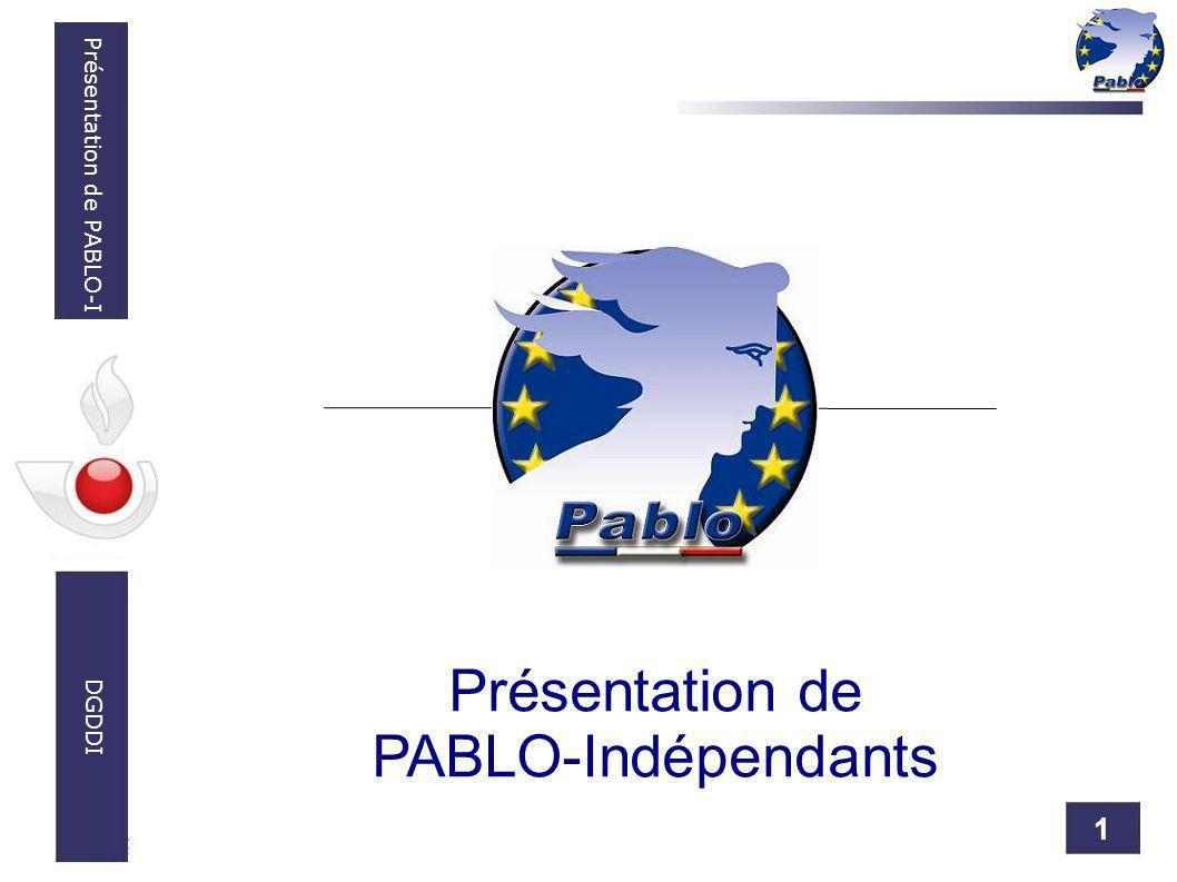 1 Présentation de PABLO-I DGDDI Présentation de PABLO-Indépendants