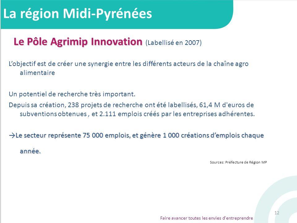 12 Le Pôle Agrimip Innovation Le Pôle Agrimip Innovation (Labellisé en 2007) Lobjectif est de créer une synergie entre les différents acteurs de la ch