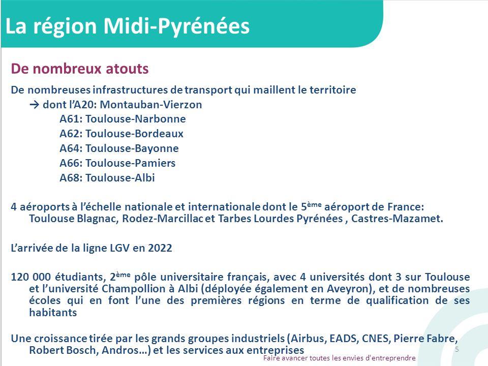 5 De nombreux atouts De nombreuses infrastructures de transport qui maillent le territoire dont lA20: Montauban-Vierzon A61: Toulouse-Narbonne A62: To