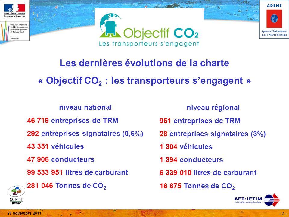 21 novembre 2011 - 18 - Bilan du suivi des engagements des entreprises signataires