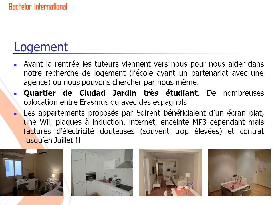 Logement Avant la rentrée les tuteurs viennent vers nous pour nous aider dans notre recherche de logement (lécole ayant un partenariat avec une agence