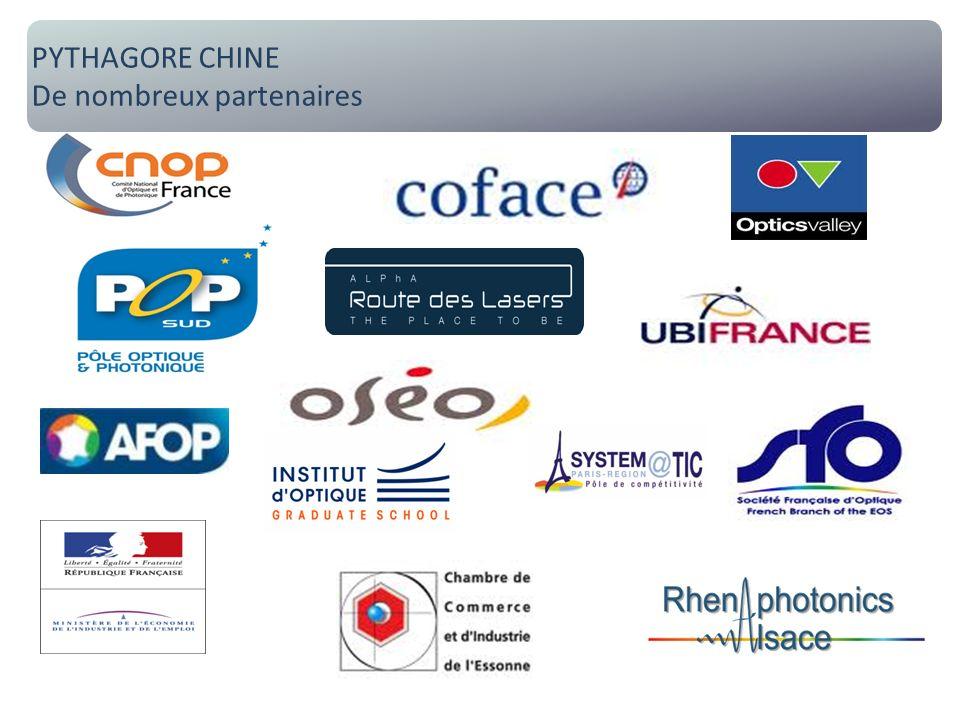 Pythagore Chine : de nombreux partenaires PYTHAGORE CHINE De nombreux partenaires