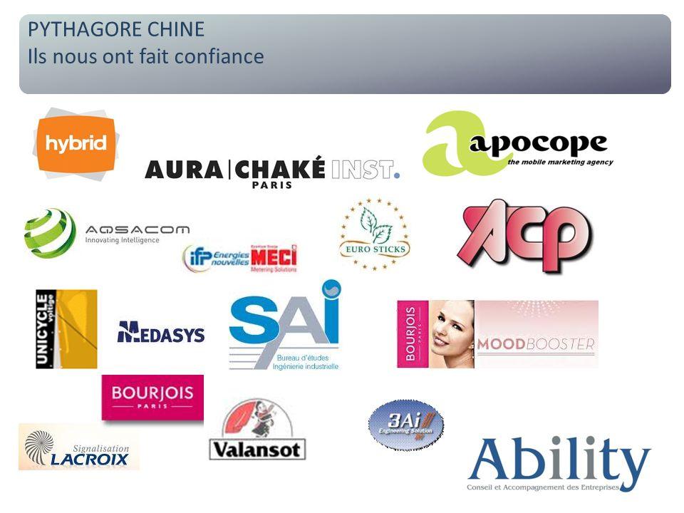 Des partenaires chinois opérationnels PYTHAGORE CHINE Nos collaborateurs locaux PYTHAGORE CHINE Ils nous ont fait confiance