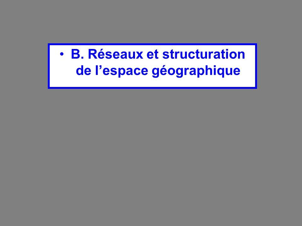 B. Réseaux et structuration de lespace géographique