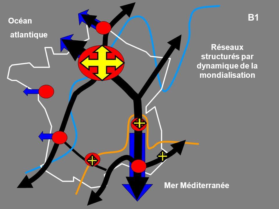 Mer Méditerranée Océan atlantique B1 Réseaux structurés par dynamique de la mondialisation