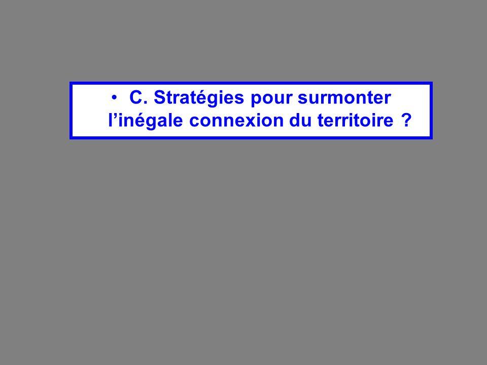 C. Stratégies pour surmonter linégale connexion du territoire ?