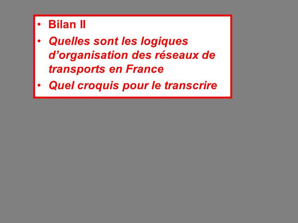 Bilan II Quelles sont les logiques dorganisation des réseaux de transports en France Quel croquis pour le transcrire