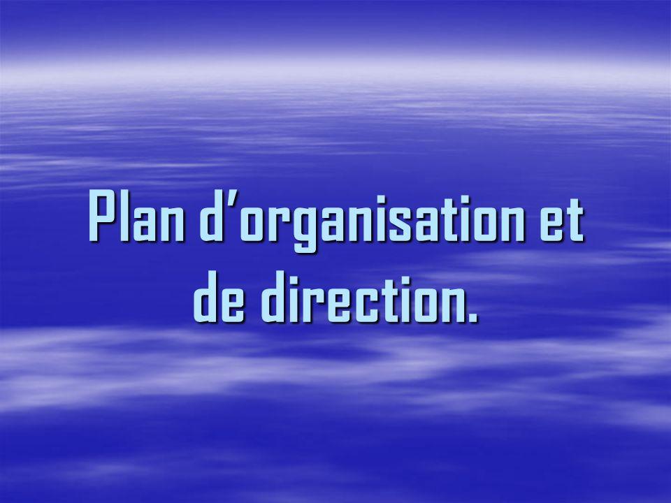 Plan dorganisation et de direction.