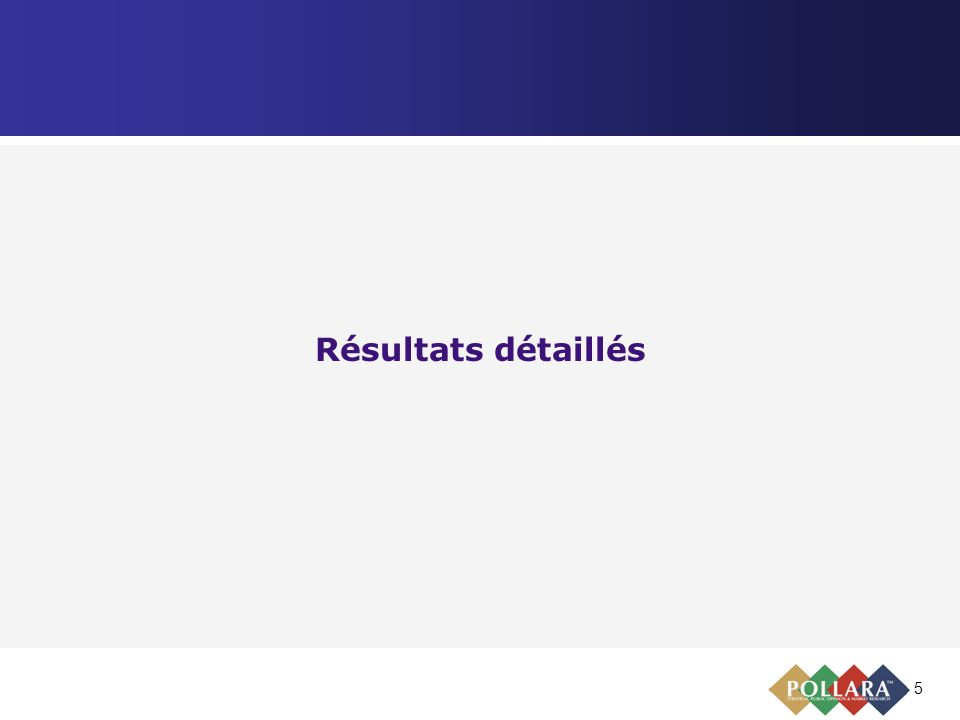 5 Résultats détaillés