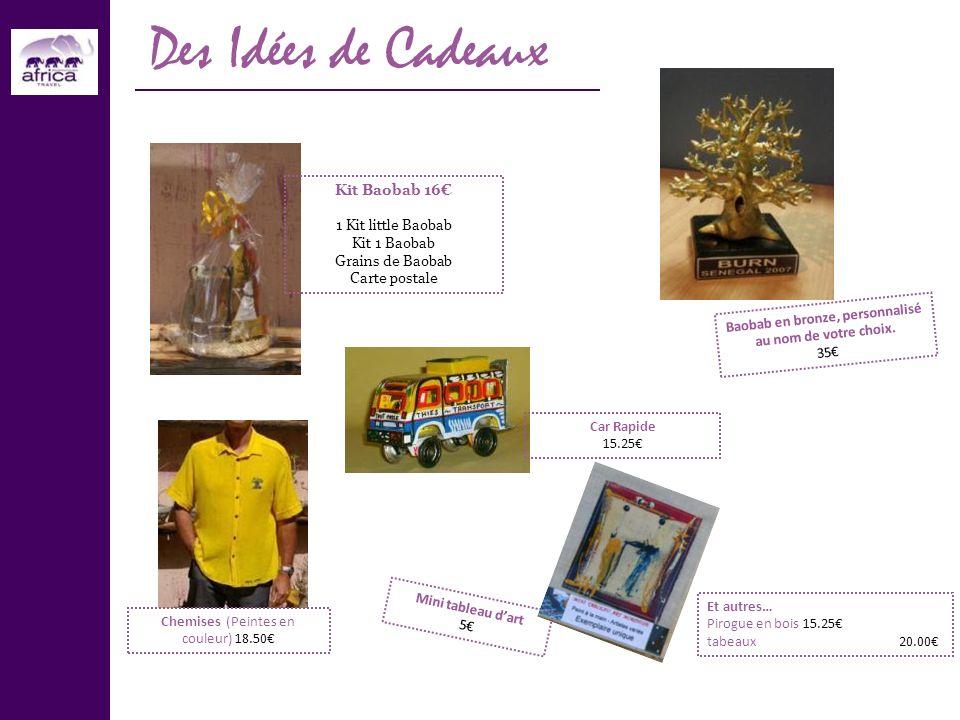 Des Idées de Cadeaux Kit Baobab 16 1 Kit little Baobab Kit 1 Baobab Grains de Baobab Carte postale Chemises (Peintes en couleur) 18.50 Mini tableau da
