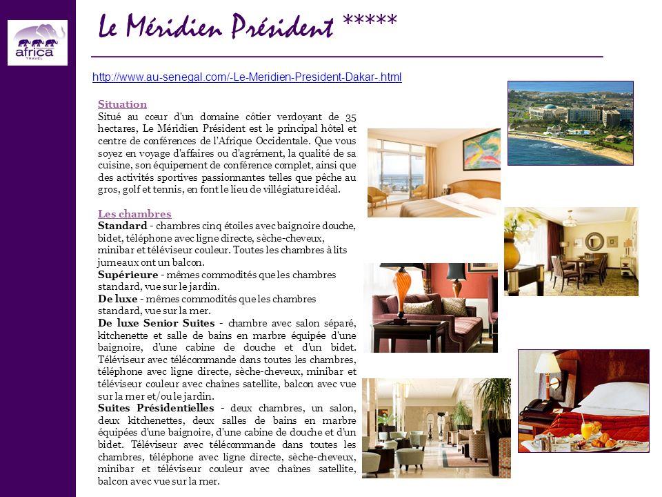 Situation Situé au cœur d'un domaine côtier verdoyant de 35 hectares, Le Méridien Président est le principal hôtel et centre de conférences de l'Afriq