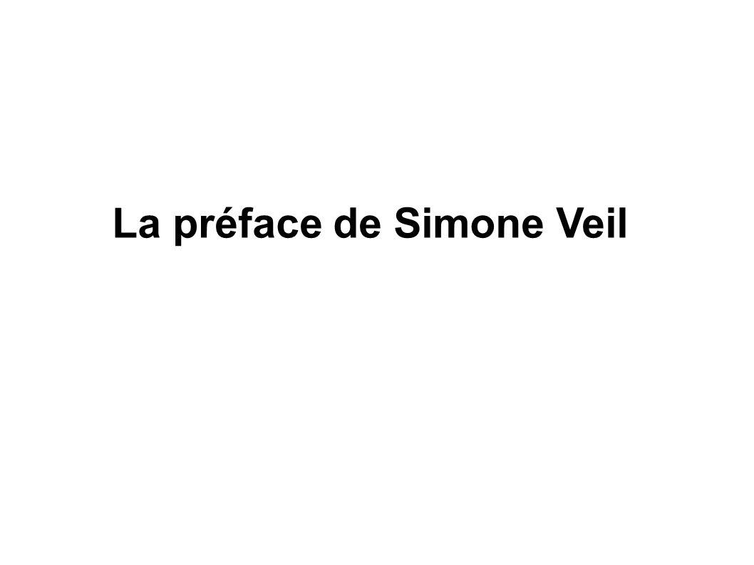 La préface de Simone Veil