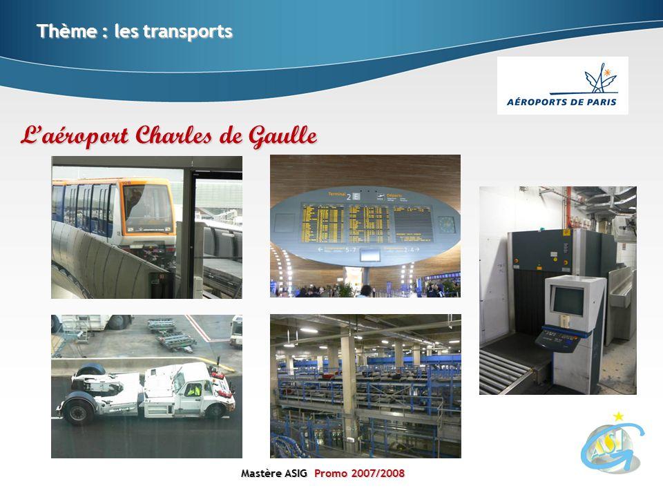 Mastère ASIGPromo 2007/2008 Mastère ASIG Promo 2007/2008 Thème : les transports Laéroport Charles de Gaulle