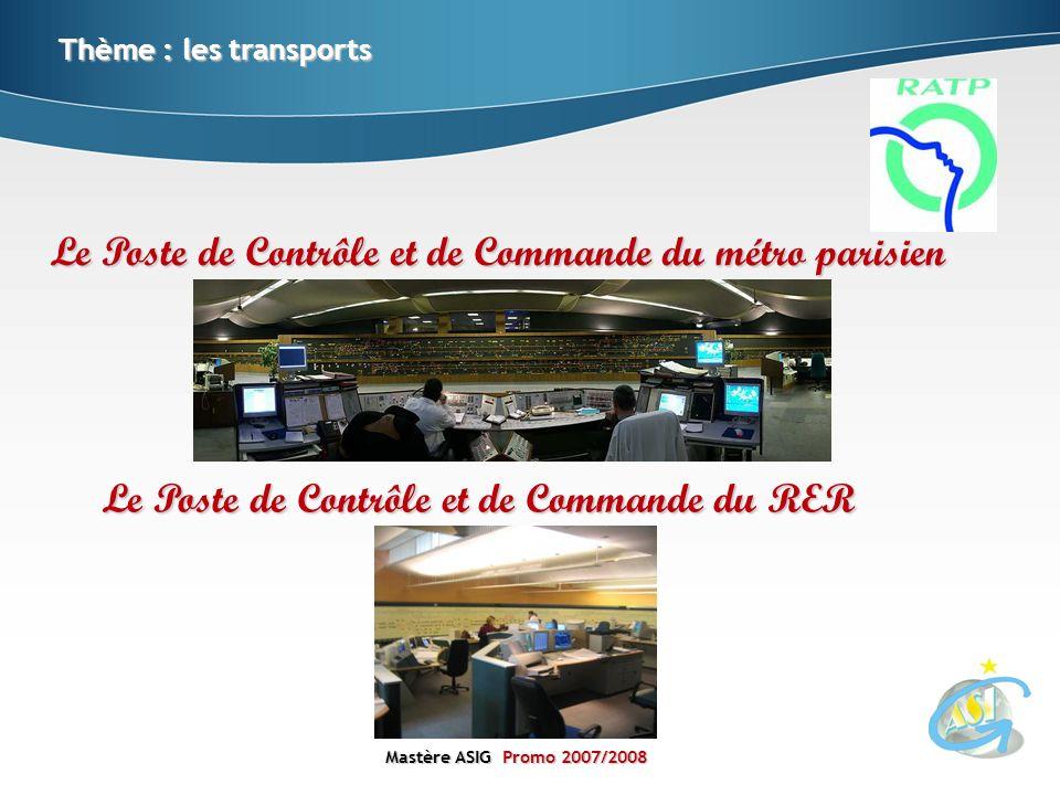 Mastère ASIGPromo 2007/2008 Mastère ASIG Promo 2007/2008 Thème : les transports Le Poste de Contrôle et de Commande du métro parisien Le Poste de Cont