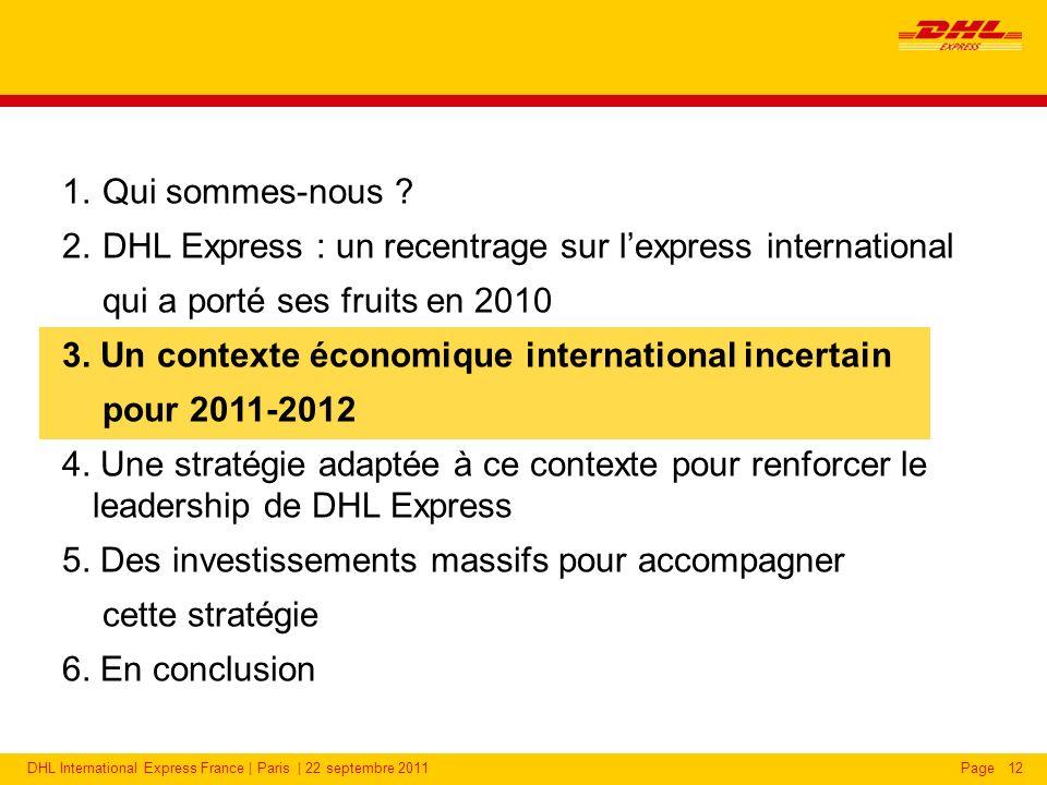 DHL International Express France | Paris | 22 septembre 2011Page12 1.