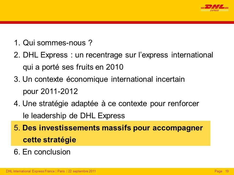 DHL International Express France | Paris | 22 septembre 2011Page19 1.