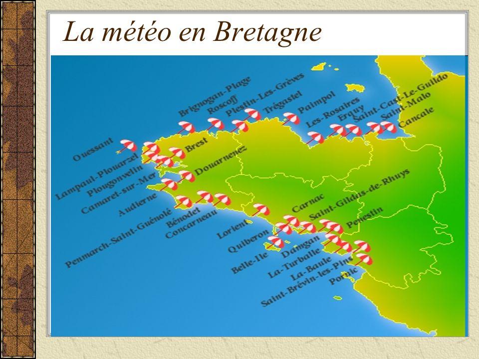 La météo en Bretagne