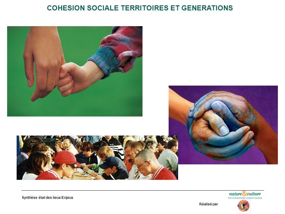 Synthèse état des lieux/Enjeux Réalisé par COHESION SOCIALE TERRITOIRES ET GENERATIONS