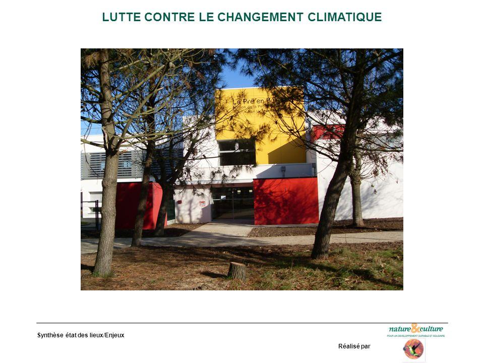 Synthèse état des lieux/Enjeux Réalisé par LUTTE CONTRE LE CHANGEMENT CLIMATIQUE