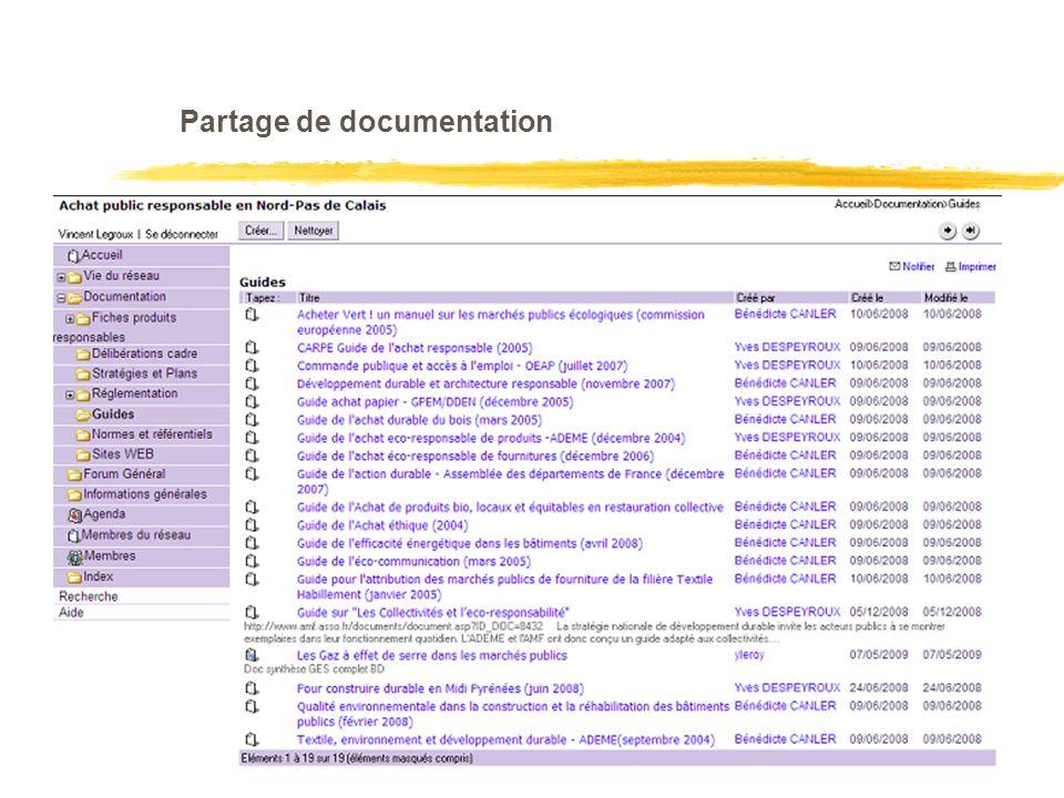 Partage de documentation