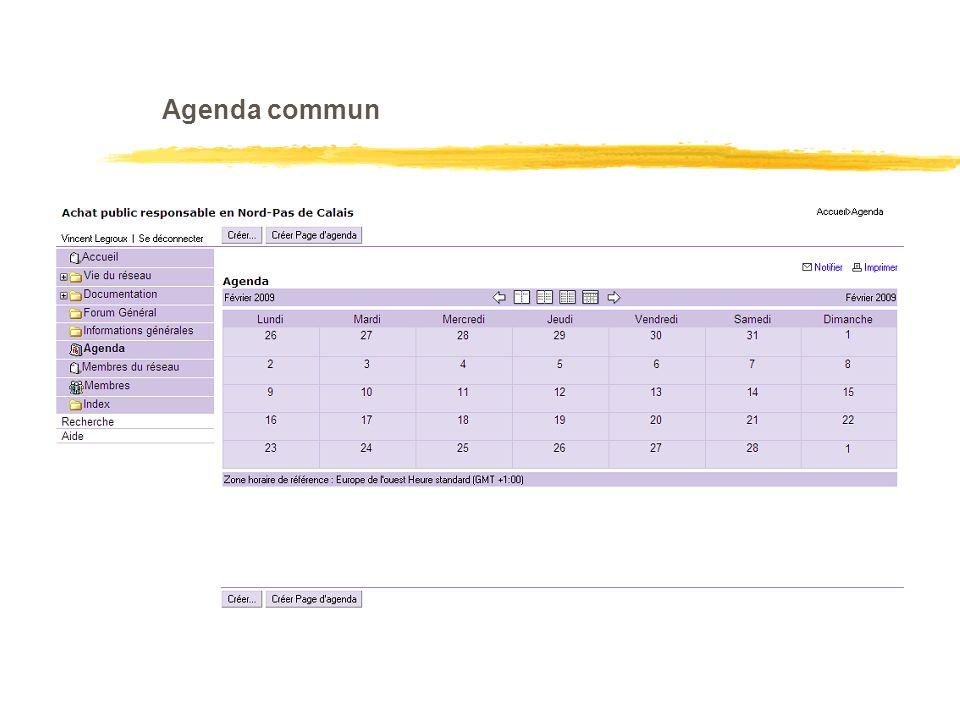 Agenda commun