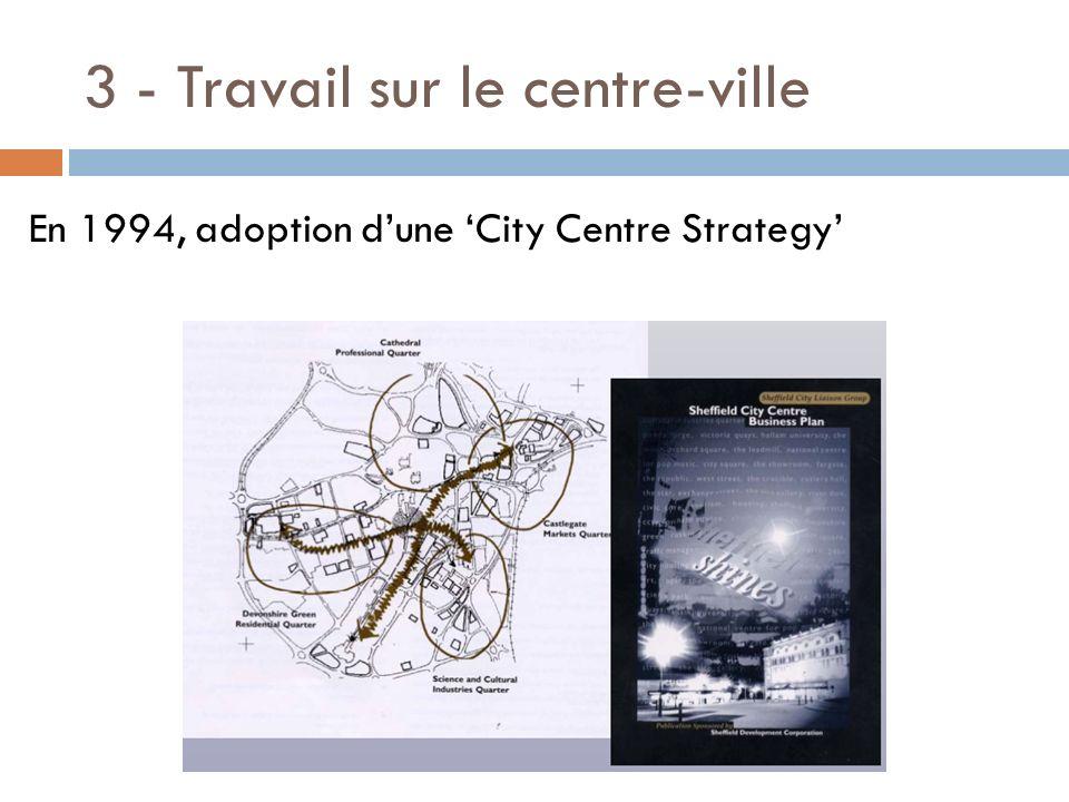 3 - Travail sur le centre-ville En 1994, adoption dune City Centre Strategy