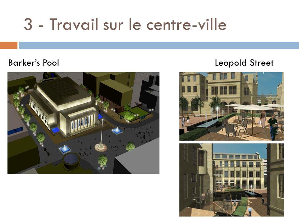 3 - Travail sur le centre-ville Barkers Pool Leopold Street
