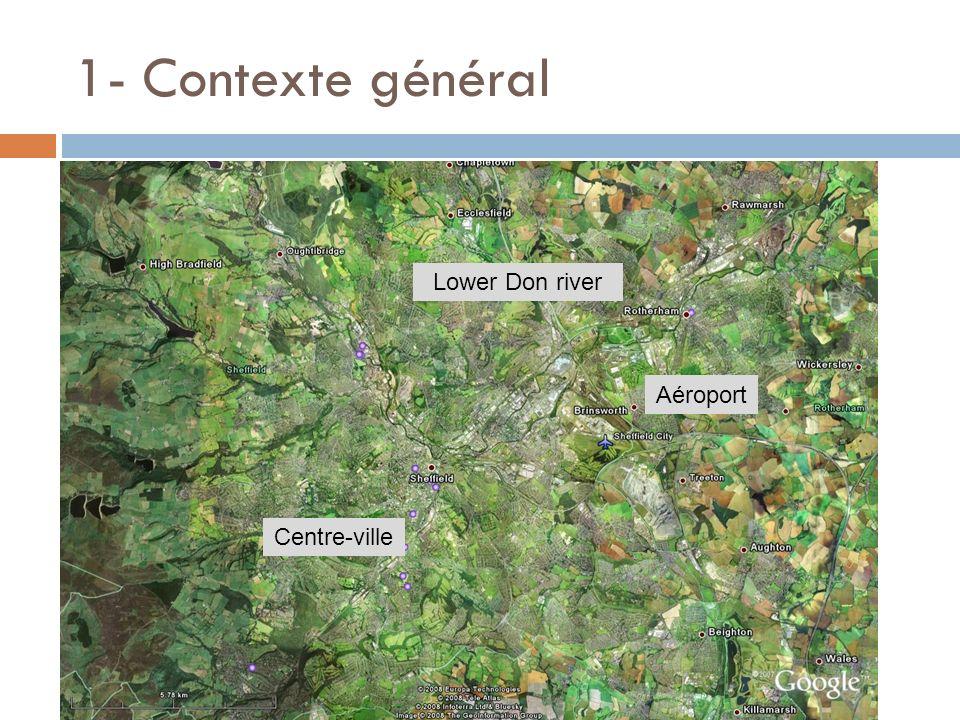 1- Contexte général Aéroport Lower Don river Centre-ville