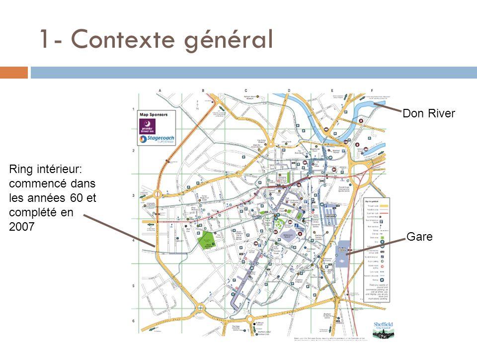 1- Contexte général Ring intérieur: commencé dans les années 60 et complété en 2007 Gare Don River
