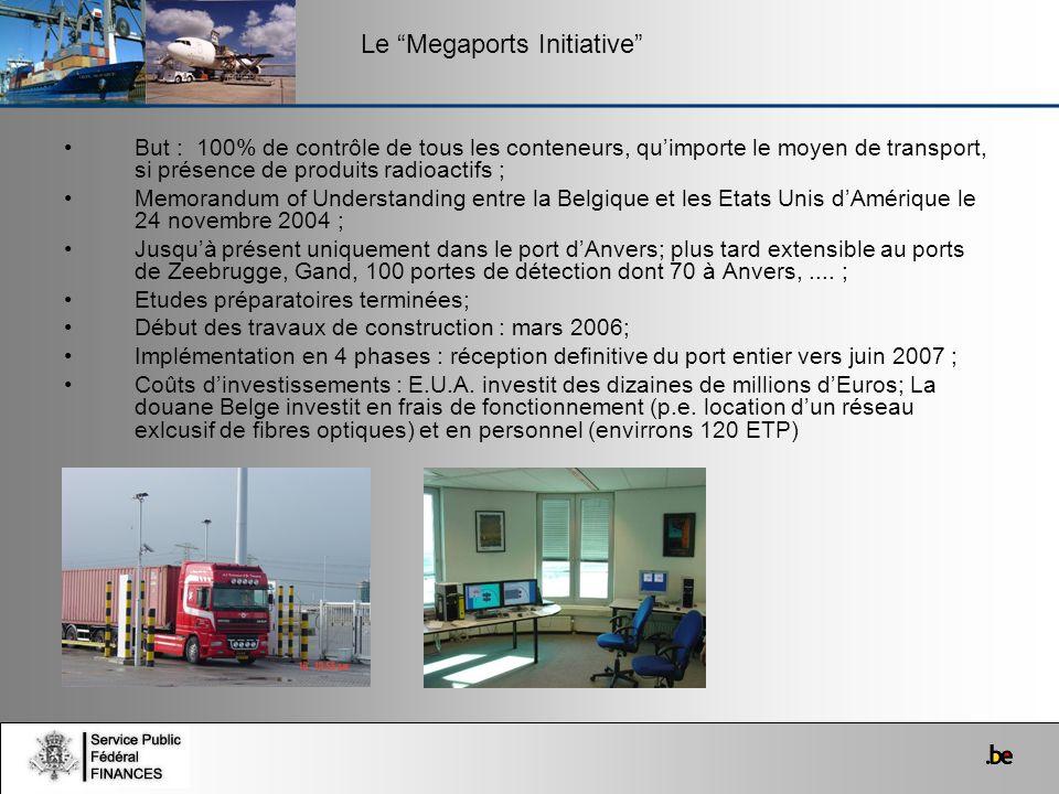 But : 100% de contrôle de tous les conteneurs, quimporte le moyen de transport, si présence de produits radioactifs ; Memorandum of Understanding entr