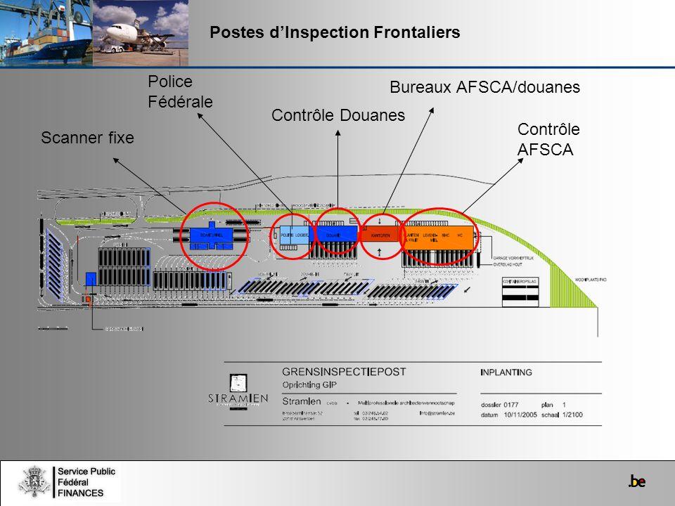 Scanner fixe Police Fédérale Contrôle Douanes Bureaux AFSCA/douanes Contrôle AFSCA
