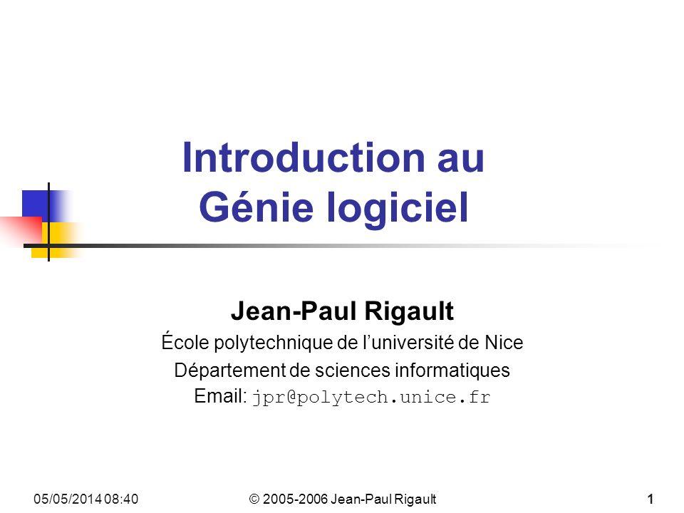 © 2005-2006 Jean-Paul Rigault 05/05/2014 08:42132 Léchec du waterfall IT Projects Sink or Swim M.