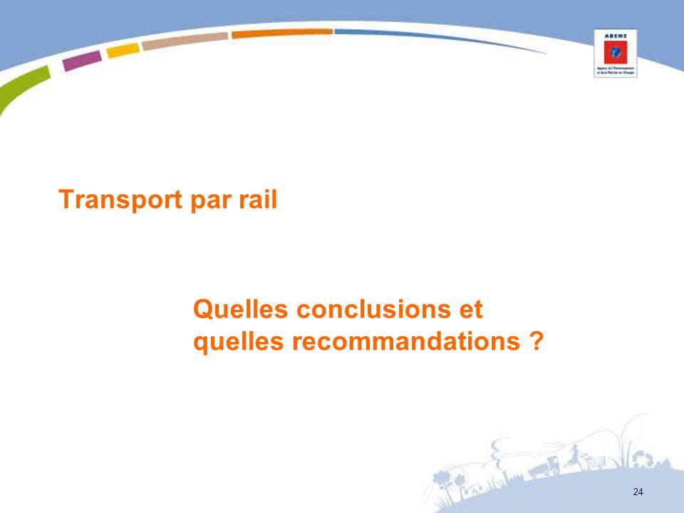Transport par rail Quelles conclusions et quelles recommandations ? 24