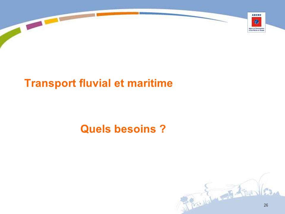 Transport fluvial et maritime Quels besoins ? 26