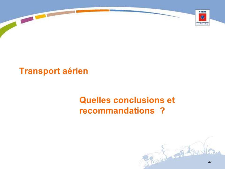 Transport aérien Quelles conclusions et recommandations ? 42