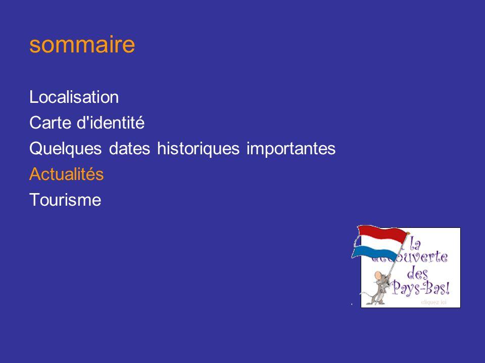 sommaire Localisation Carte d identité Quelques dates historiques importantes Actualités Tourisme