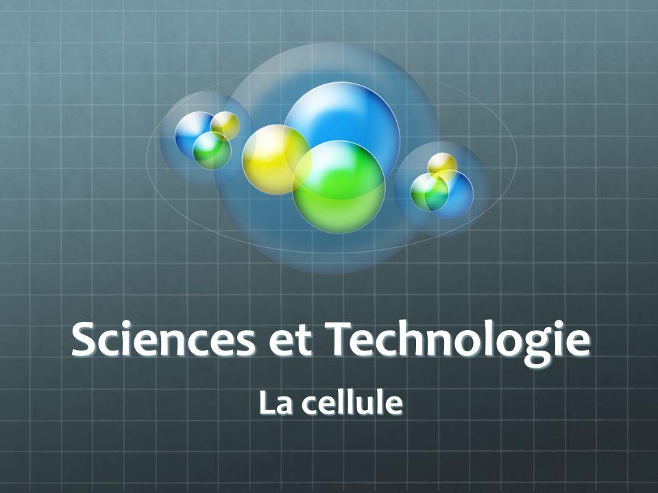 Sciences et Technologie La cellule