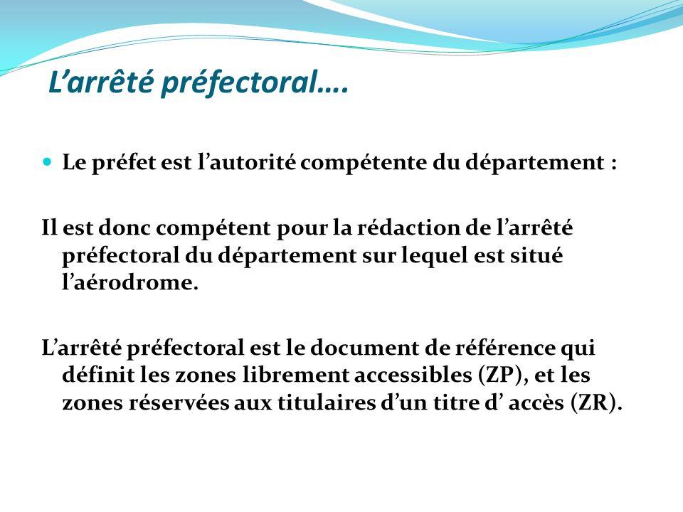 Larrêté préfectoral….