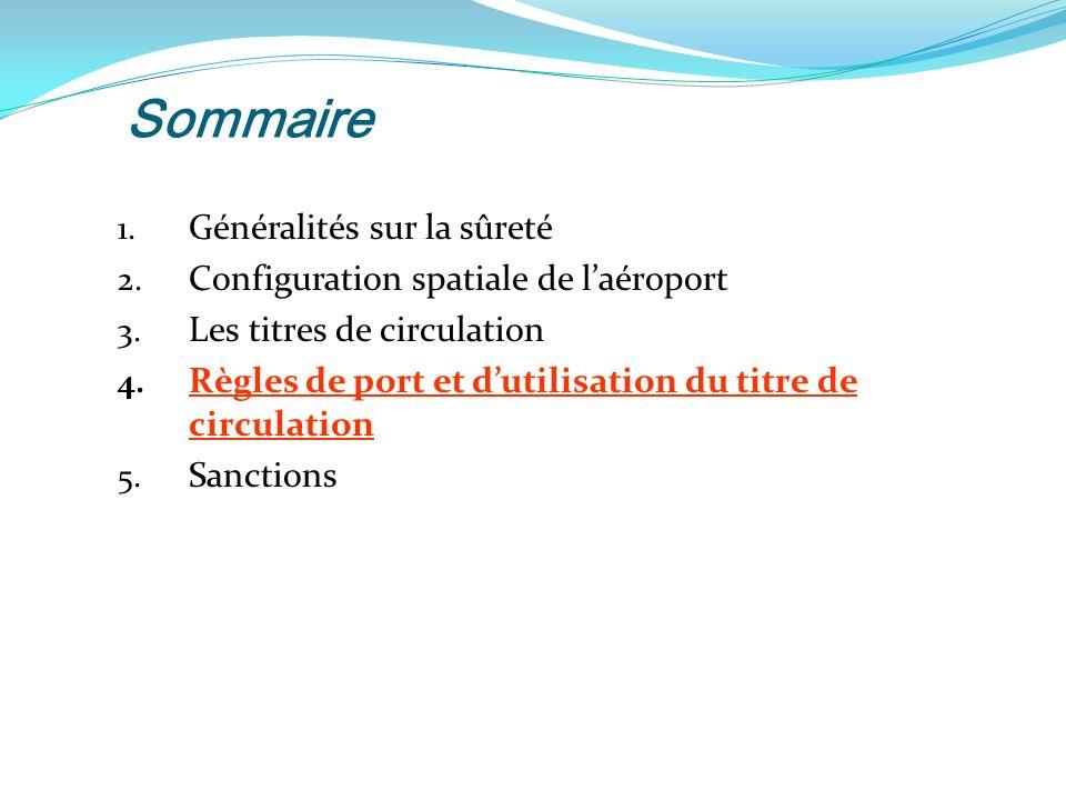 Sommaire 1.Généralités sur la sûreté 2. Configuration spatiale de laéroport 3.