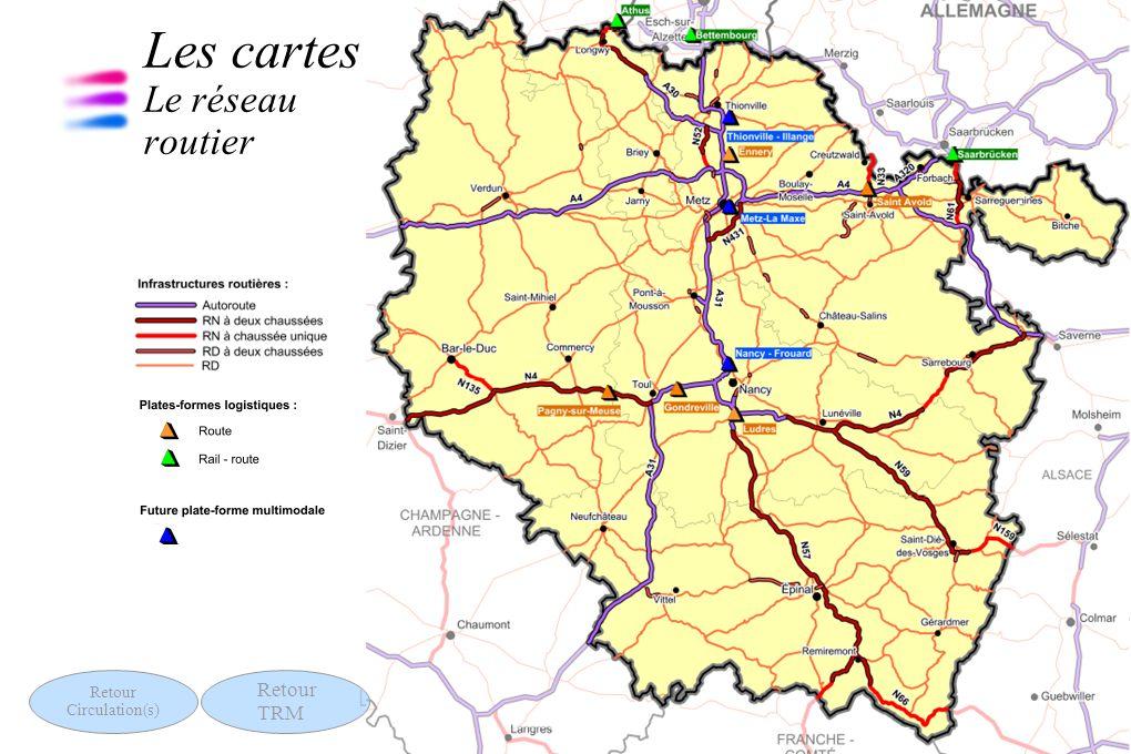 11 Les chiffres clés des transports 13 septembre 2011 Les cartes Le réseau routier Retour Circulation(s) Retour TRM
