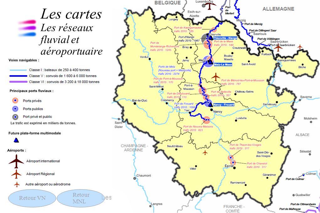 13 Les chiffres clés des transports 13 septembre 2011 Les cartes Les réseaux fluvial et aéroportuaire Retour VN Retour MNL
