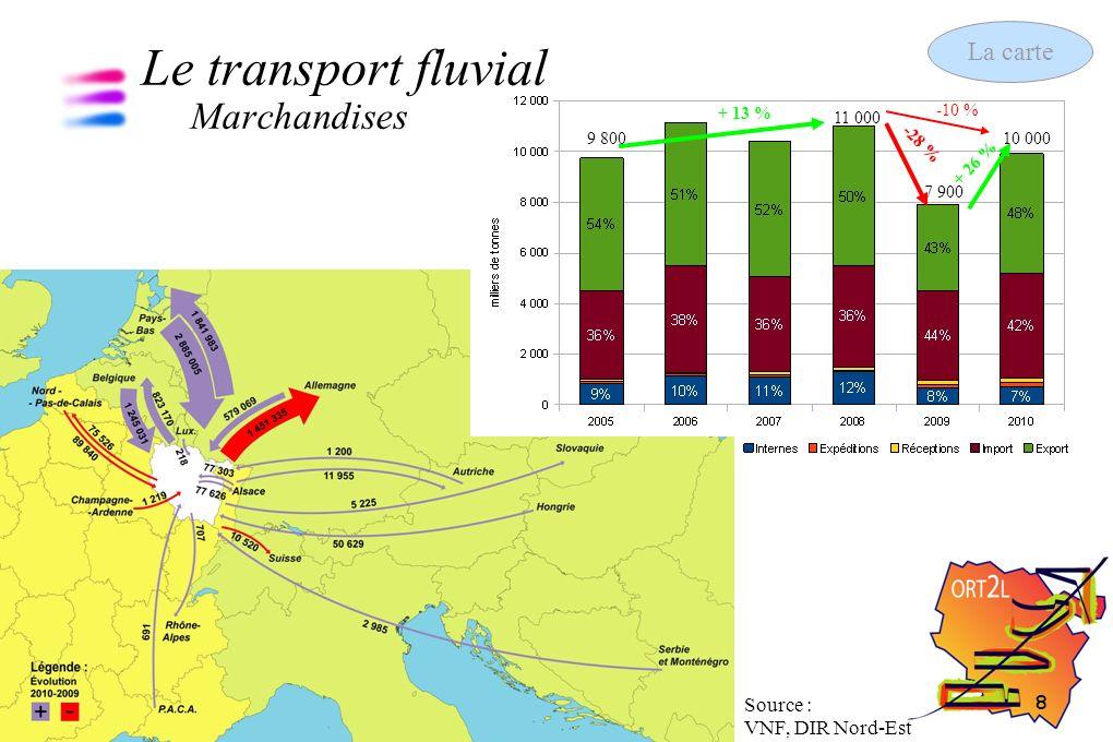 9 Les chiffres clés des transports 13 septembre 2011 Le transport aérien Voyageurs Source : Aéroport Metz-Nancy-Lorraine 340 242 344 913 291 006 263 020 254 204 + 1,4 % - 15,6 % - 9,6 % - 3,4 % + 1,7 % - 40 % - 15 % - 4,5 % La carte
