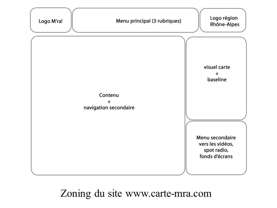 Zoning du site www.carte-mra.com