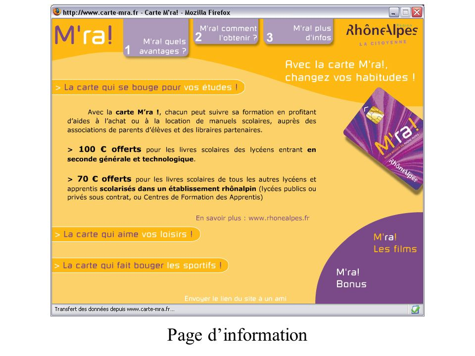 Page dinformation