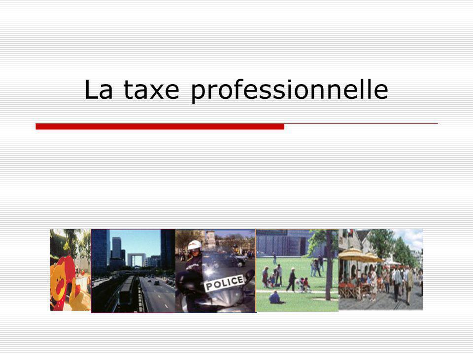 La taxe professionnelle